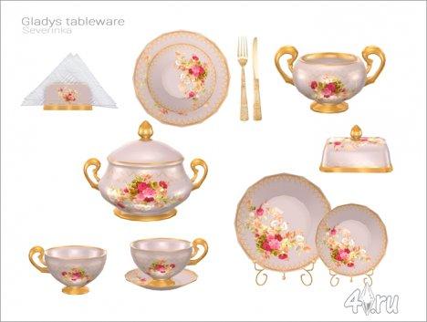 Набор фарфоровой посуды от Severinka для The Sims 4