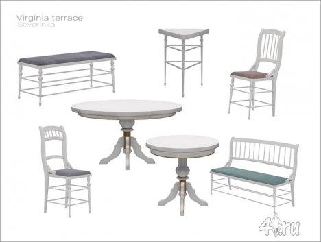 Набор мебели и декора для террасы / веранды / столовой от Severinka для The Sims 4