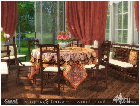Набор мебели и декора для оформления террасы / веранды / столовой от Severinka для The Sims 4
