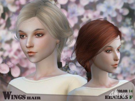 Женская прическа от Wingssims для The Sims 4