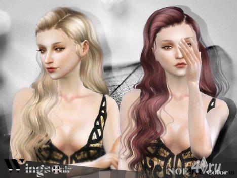 Длинная волнистая женская прическа от Wingssims для The Sims 4