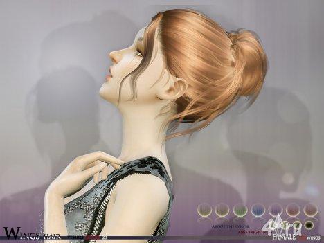 Высокая женская прическа от Wingssims для The Sims 4