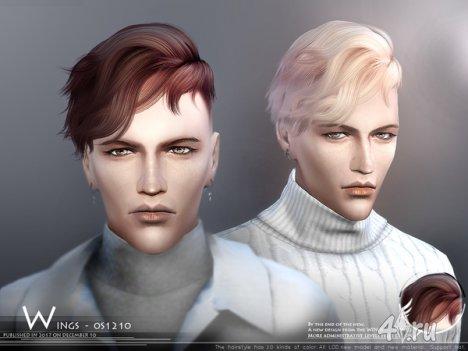 Мужская прическа от Wingssims для The Sims 4
