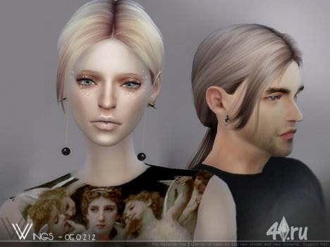 Прическа для мужчин и женщин от Wingssims для The Sims 4