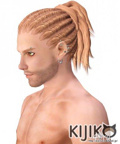 Мужская прическа с дредами от Kijiko для The Sims 3