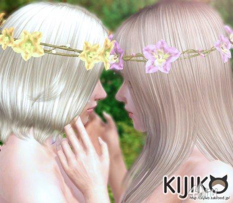 Венок из цветов от Kijiko для The Sims 3