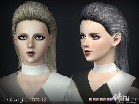 Женская прическа от S-Club для The Sims 3