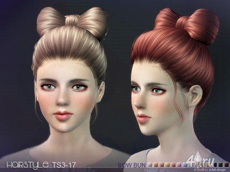 Женская прическа с бантом от S-Club для The Sims 3
