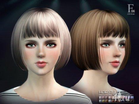 Женская прическа карэ от S-Club для The Sims 3
