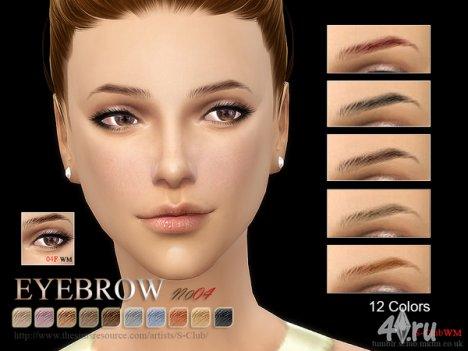 Брови для женщин от S-Club для The Sims 4
