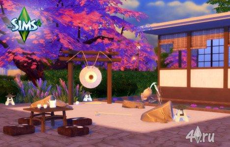 Японский сад-цветник от Angela для Симс 4