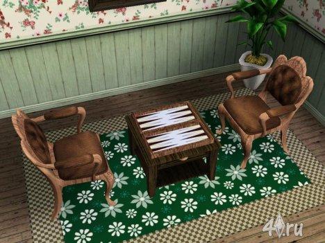 Набор для игры в нарды от darkfairy для Симс 3 в формате sims3pack