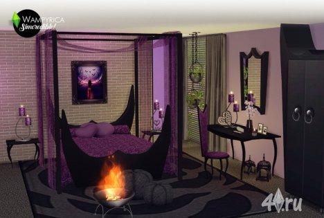 Спальня Wampyrica в готическом стиле от SIMcred для Симс 4