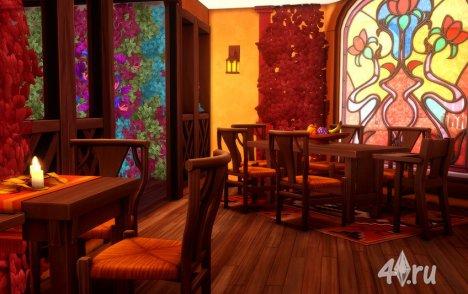 """Ресторан """"Тыквенный пирог"""" для Симс 4 от MikkiMur"""